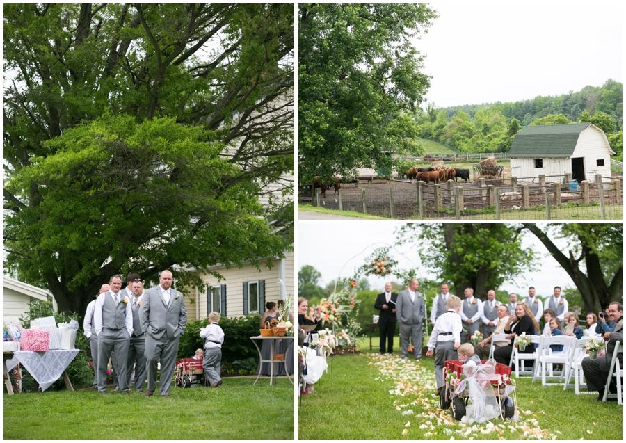 Spring Farm country wedding details - Davidsonville Farm Wedding Photographer