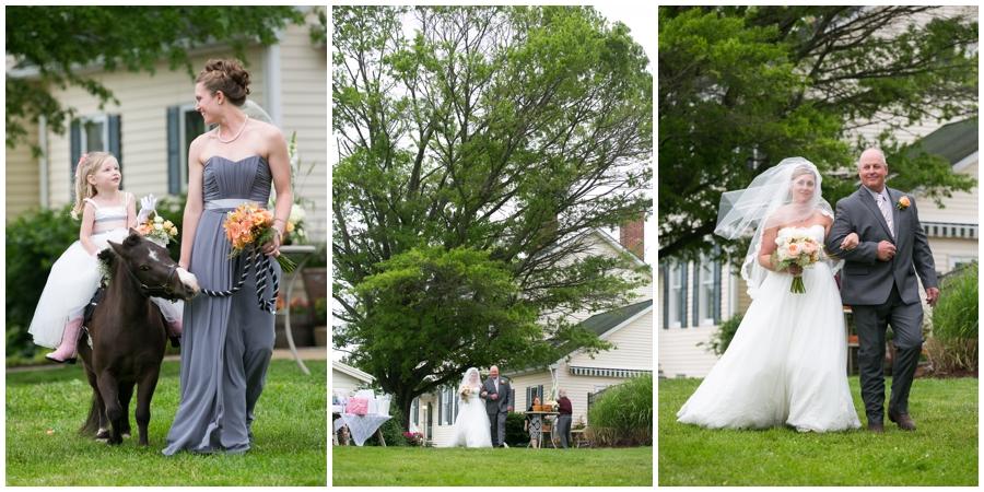 Spring Farm country wedding ceremony - Davidsonville Rustic Farm Wedding Photographer