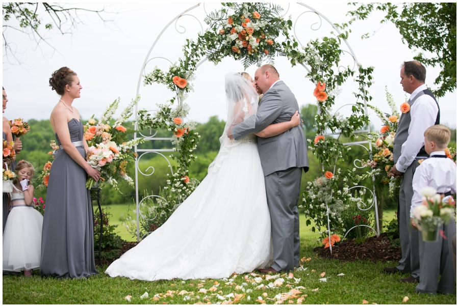 Spring Farm country wedding ceremony - Davidsonville Country Farm Wedding Photographer