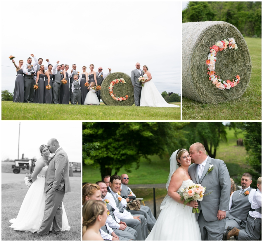Rustic Farm wedding party photo - Davidsonville Country Farm Wedding Photographer