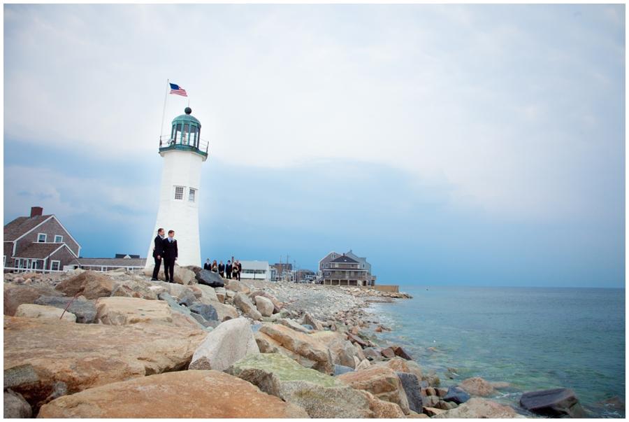 Scituate MA Lighthouse Wedding Photograph - MA LGBT Wedding Photographer