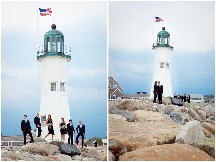 Scituate MA Lighthouse Wedding Photograph - MA LGBT Wedding Party