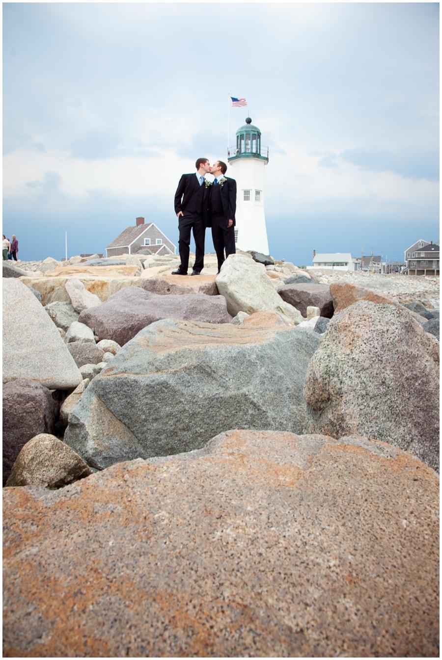 Scituate MA Lighthouse Wedding Photograph - MA Destination Wedding Photographer