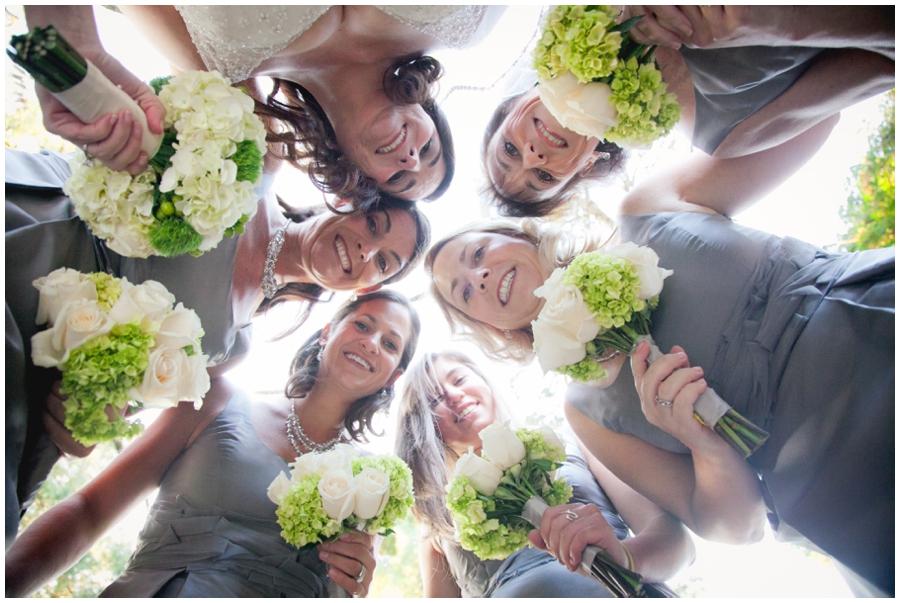 Fall Bridal Party photograph - Grey bridesmaid dress