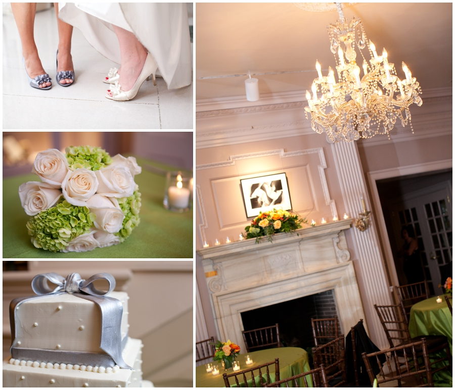 Green and silver wedding details - strathmore mansion wedding