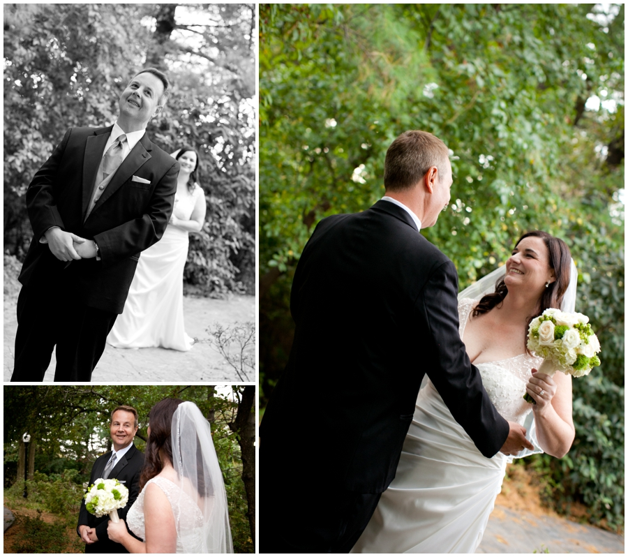 First Look Wedding Photograph - The Mansion at Strathmore Wedding Photographer