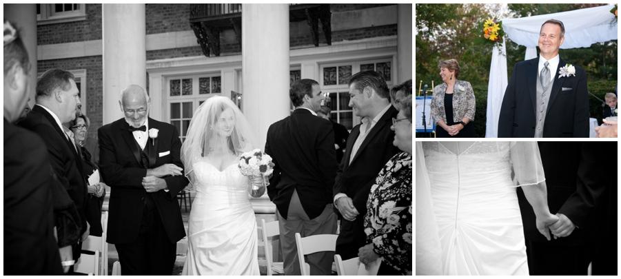Wedding Ceremony Photograph - The Mansion at Strathmore Wedding Photographer