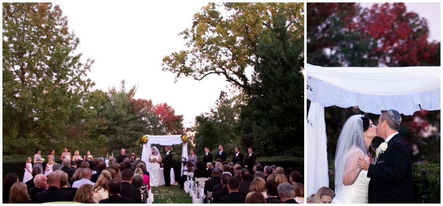Wedding Ceremony Photograph - Fall Chuppa - The Mansion at Strathmore Wedding Photographer