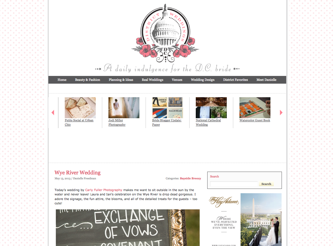District Wedding Blog Feature - Waterfront Wye River Wedding by Carly Fuller Photography