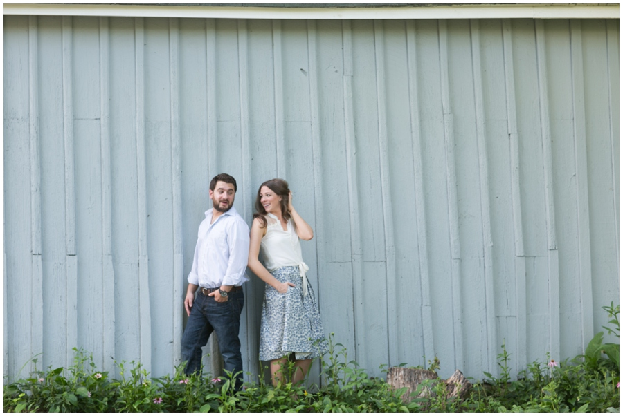 Howard County Conservancy Engagement Photograph - Playful barn engagement photo