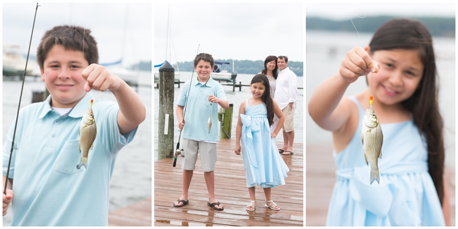 Severn River Family - fish caught - Waterfront Lifestyle Family Photographer