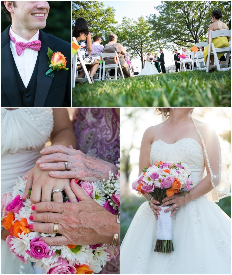 Downtown Baltimore Wedding Photographer - Pier 5 Lighthouse Garden Ceremony Wedding Details