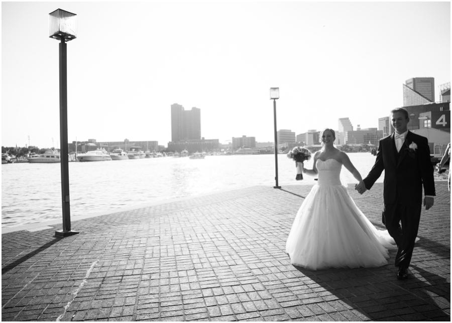 Inner Harbor Baltimore Wedding Photographer - Pier 5 Lighthouse Garden Wedding