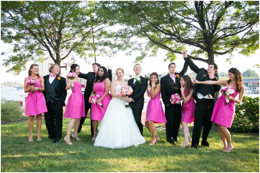 Inner Harbor Baltimore Wedding Photographer - Pier 5 Lighthouse Garden Wedding Party Photograph
