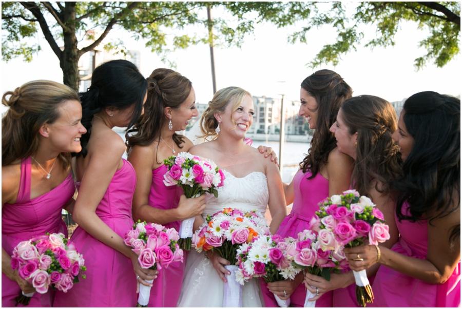 Inner Harbor Baltimore Wedding Photographer - Pier 5 Hotel Wedding Party Photograph
