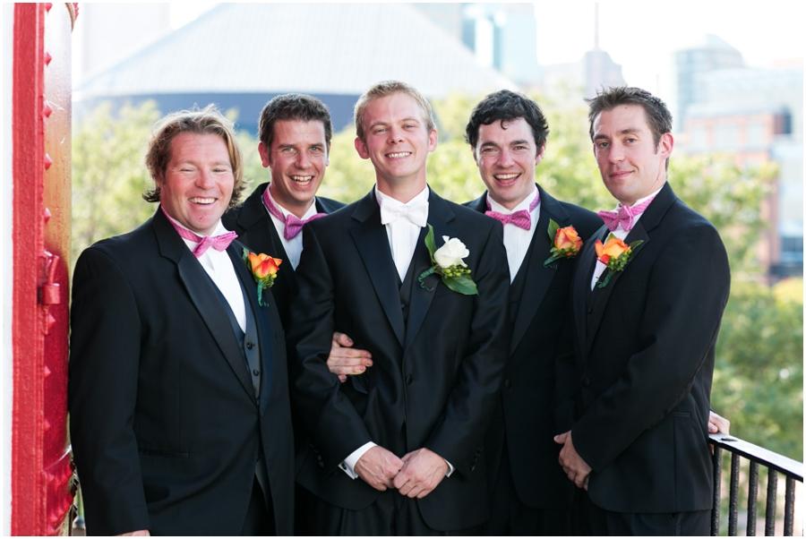 Inner Harbor Baltimore Wedding Photographer - Pier 5 Lighthouse Wedding Party