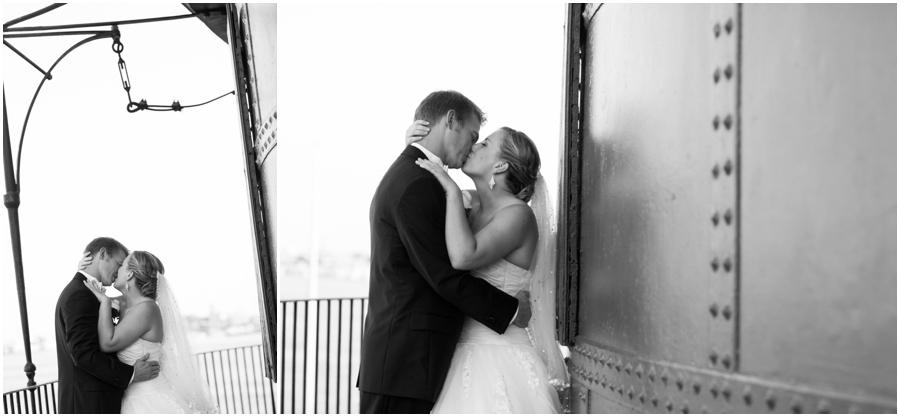 Inner Harbor Baltimore Wedding Photographer - Pier 5 Lighthouse Wedding Portrait