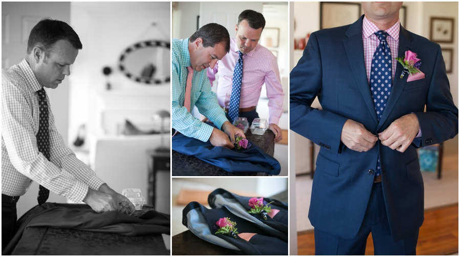 Inn at Perry Cabin LGBT Wedding Photographer - Grooms getting ready
