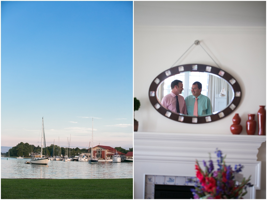 Inn at Perry Cabin LGBT Wedding Photographer - Waterfront Wedding Details