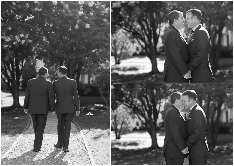 black and white wedding portrait - Inn at Perry Cabin Wedding Photographer - Summer Wedding