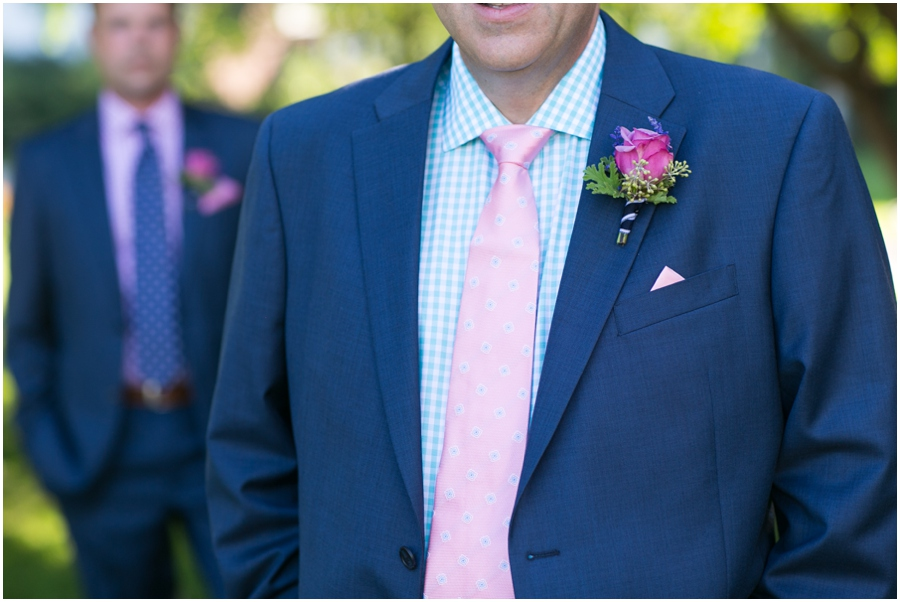 August wedding detail - Inn at Perry Cabin Wedding Photographer - tux detail