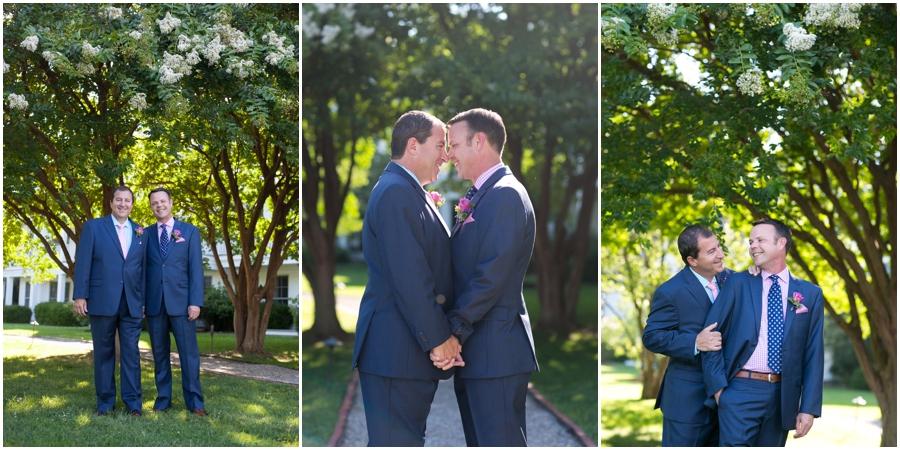 August wedding portrait - Inn at Perry Cabin LGBT Wedding Photographer - Summer Wedding