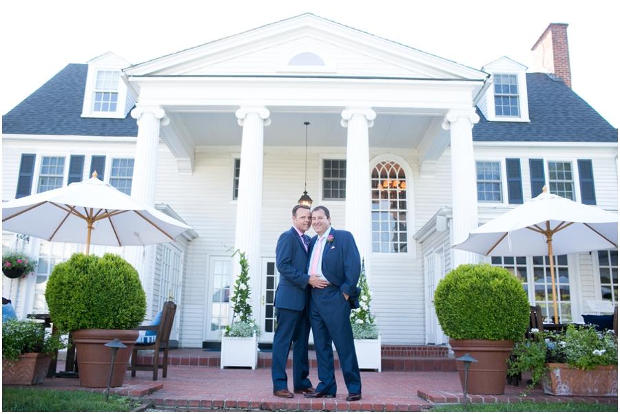 August love portrait - Inn at Perry Cabin LGBT Wedding Photographer - Summer waterfront Wedding photograph