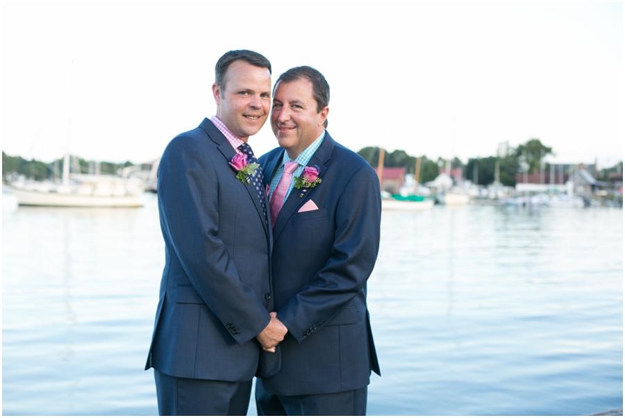 August outdoor wedding portrait - Inn at Perry Cabin Wedding Photographer - Summer waterfront Wedding