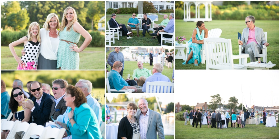 August outdoor reception - Inn at Perry Cabin Wedding Photographer - Summer seaside Wedding cocktail hour
