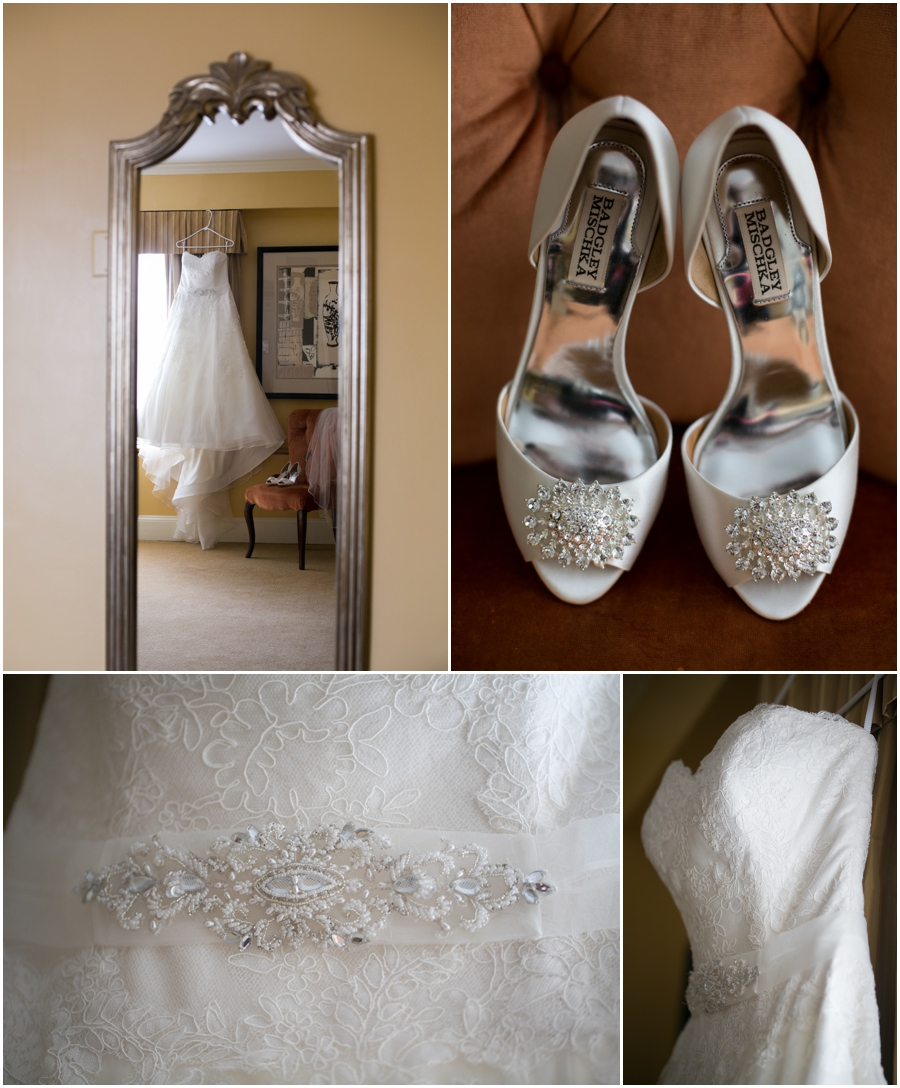 Summer Wedding Details - Badgely Mischka Bridal Shoes - Watters Bridal Gown