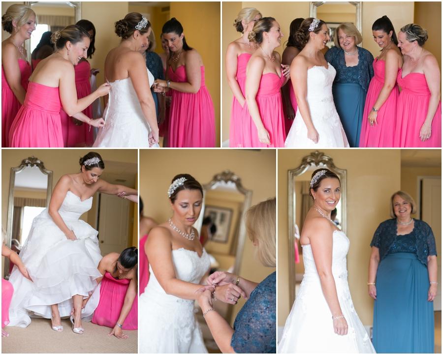 Summer Wedding Details - Pink bridesmaid Dress - Getting Ready - The Tidewater Inn