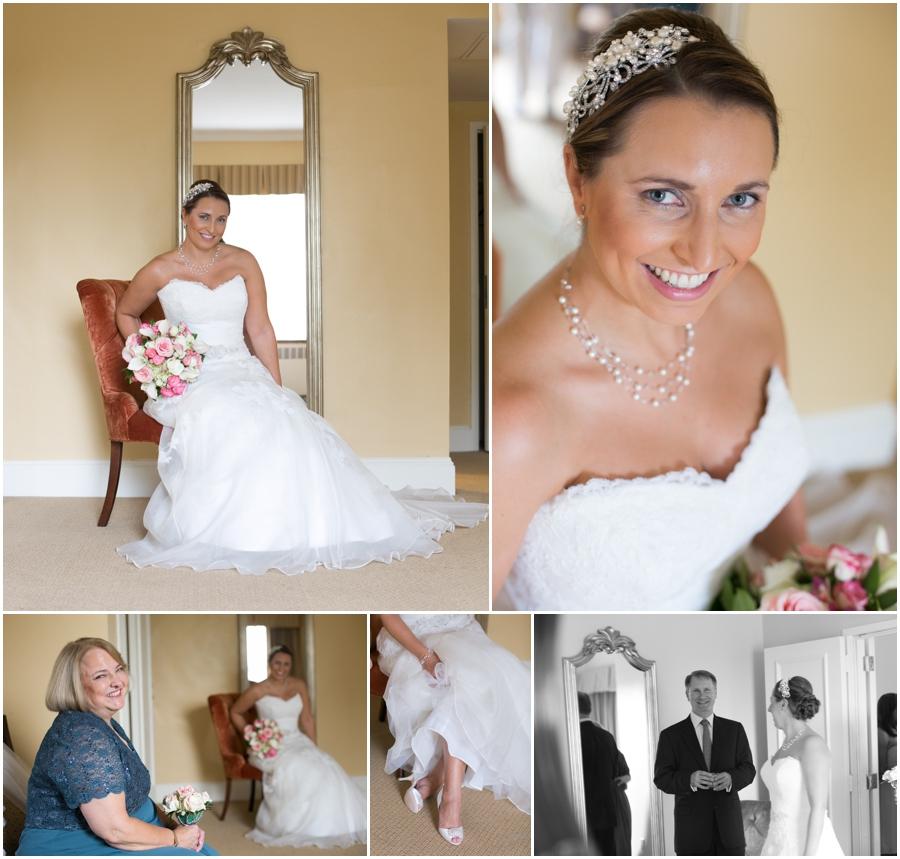 Getting Ready - Bridal Portrait - The Tidewater Inn Hotel - Watters Bridal Gown