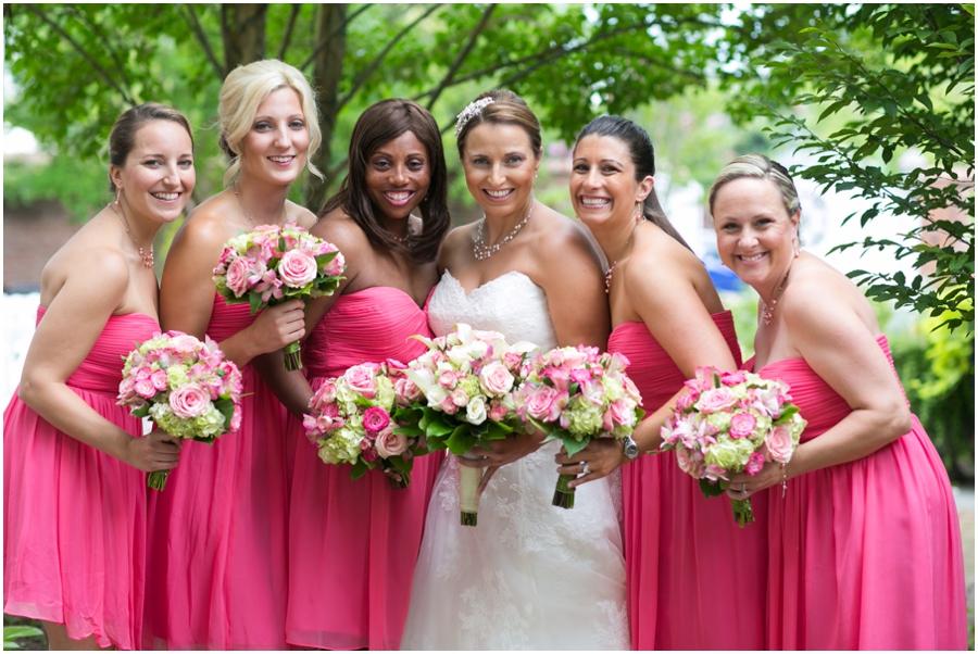 Summer Wedding Details - Watters Wedding Dress - Pink Bridesmaid Dress - The Tidewater Inn Hotel