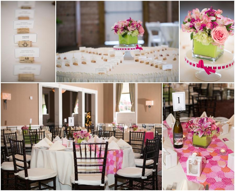 Summer Wedding Detaiils - Eastern Shore Wedding Photographer - The Tidewater Inn Table Decorations