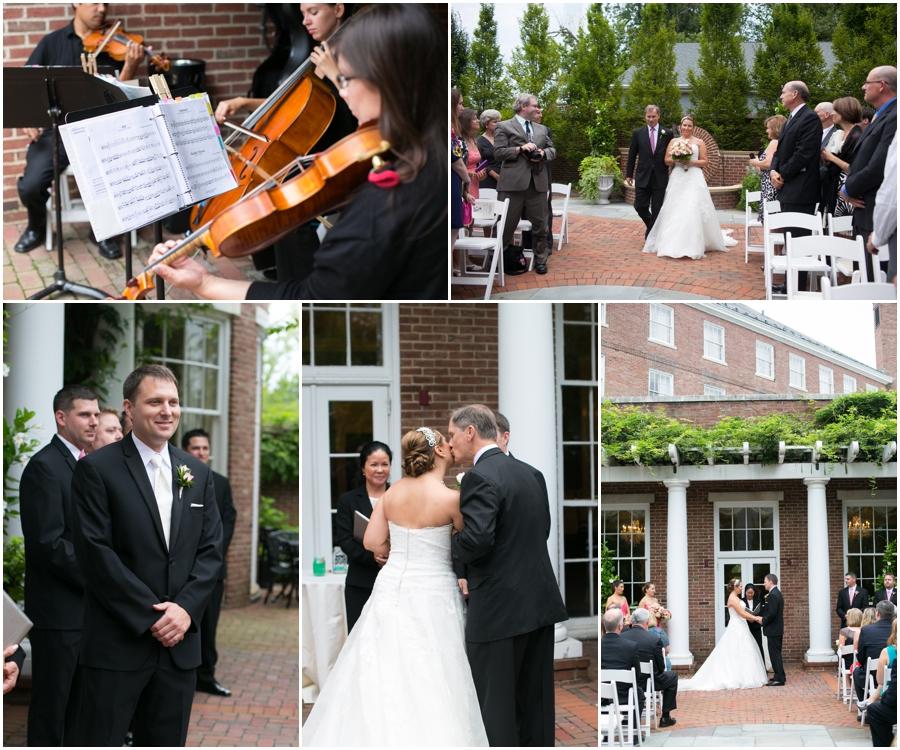 Summer Wedding Ceremony - Eastern Shore Wedding Photographer - The Tidewater Inn Outdoor Ceremony