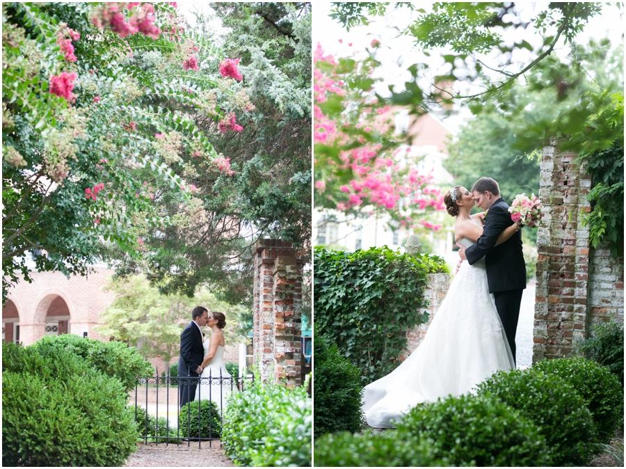 Summer Wedding Portrait - Downtown Easton Wedding Photography - Tidewater Inn Wedding Photographer