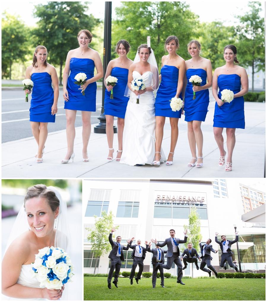 Arlington Renaissance Hotel Wedding Photographer - Cobalt Blue Capitol View Wedding Party