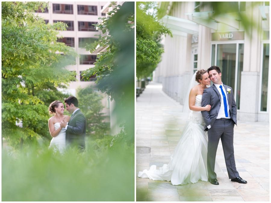 Arlington Renaissance Wedding Photograph - DC Capitol View Wedding Couple Portrait
