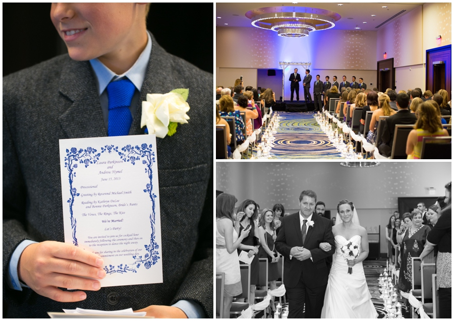 Arlington Renaissance Wedding Ceremony - DC Capitol View Wedding Program