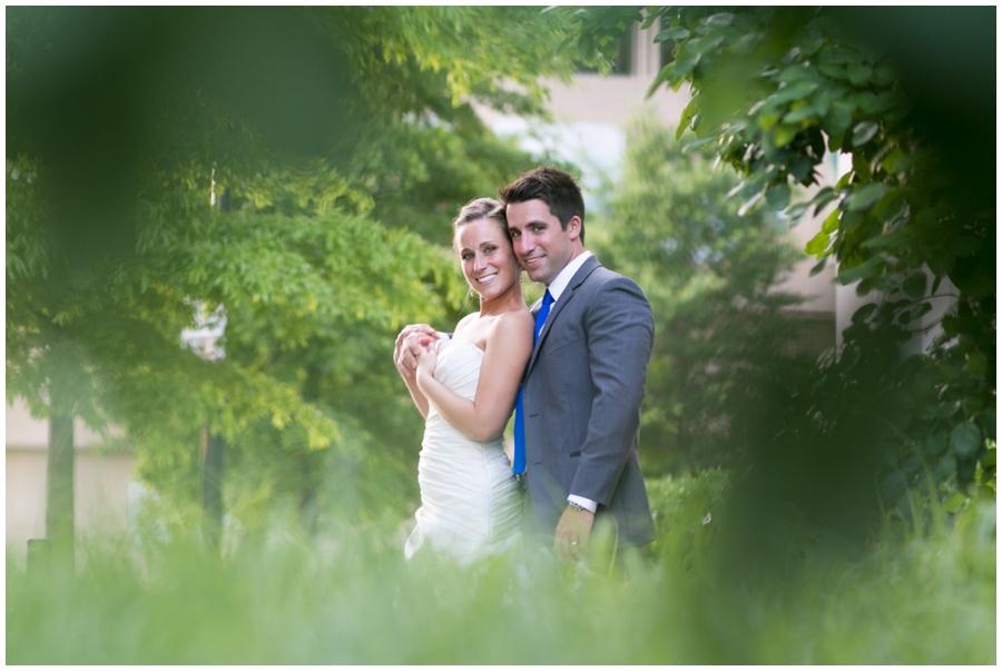 Arlington Renaissance Hotel Wedding Photographer - DC Capitol View Wedding Couple Portrait