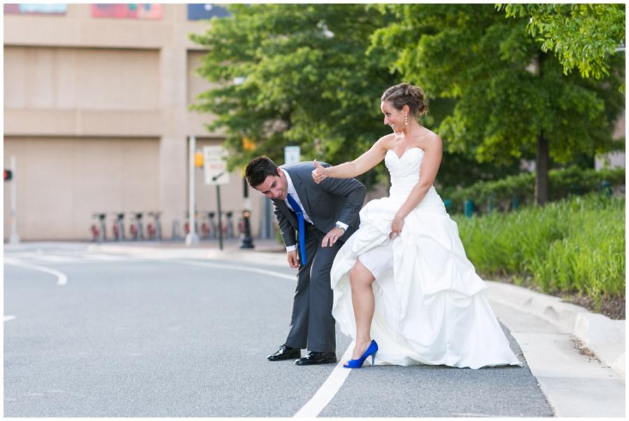 Arlington Renaissance Wedding Photographer - DC Capitol View Wedding Couple Portrait