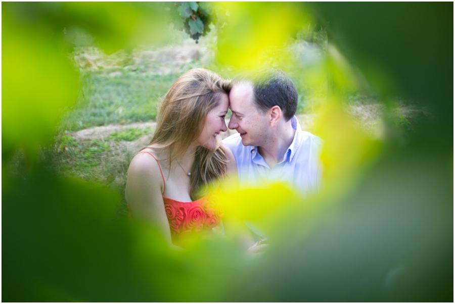 Breaux Vineyard Engagement Love Portrait - Red engagement dress