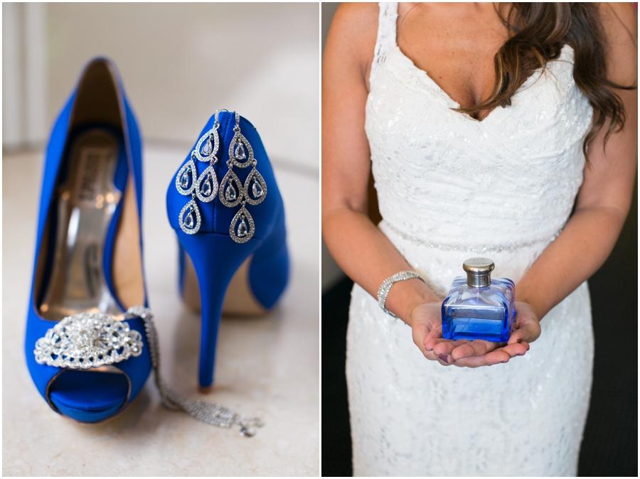 Hilton Garden Inn Wedding - Blue Badgely Mischka Bridal Shoes