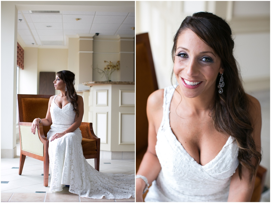 Hilton Garden Inn Bridal Portrait - Eastern Shore Wedding Photographer