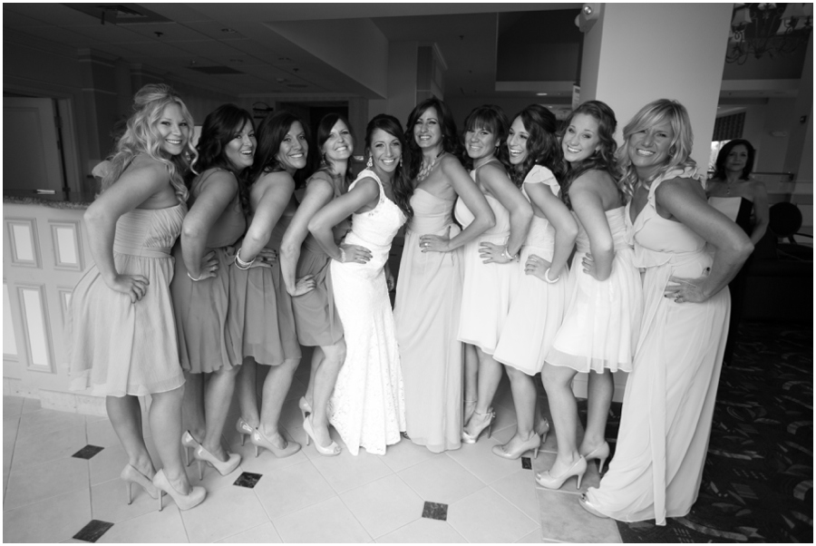 Hilton Garden Inn Bridesmaid Portrait - Eastern Shore Wedding Photographer
