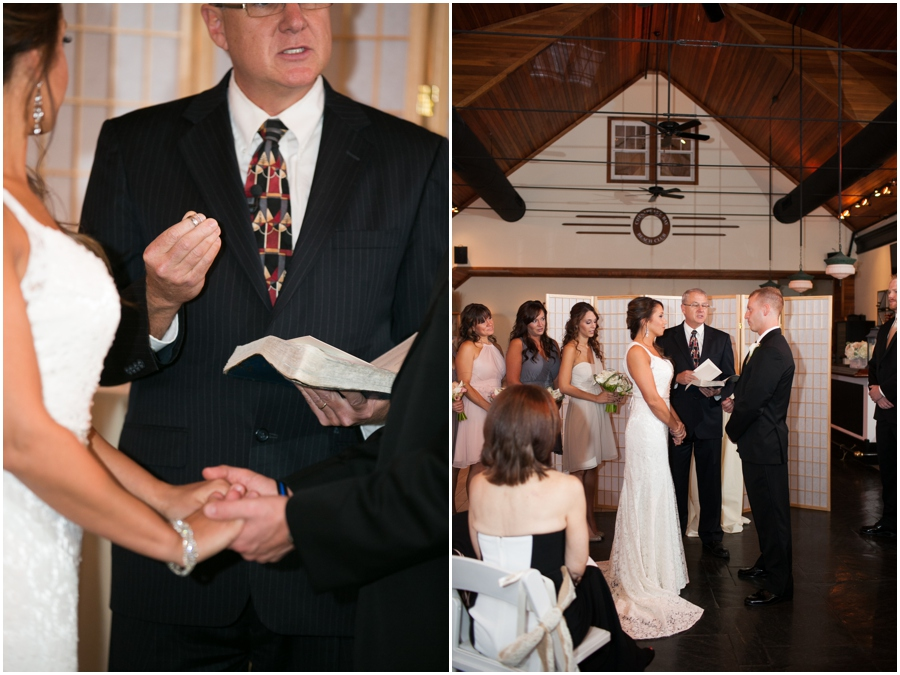 Chesapeake Bay Beach Club Indoor Ceremony - Tavern on the Bay Wedding Photographer