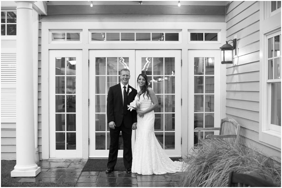 Beach Club Wedding Photographer - Tavern on the Bay Wedding Portraits in the Rain
