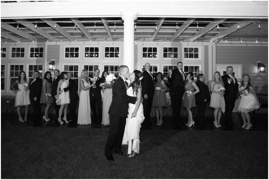 Beach Club Wedding Photographer - Tavern on the Bay Wedding Party in the Rain