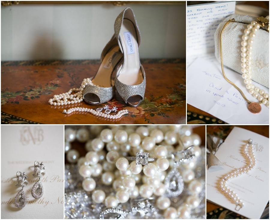 Four Seasons Baltimore Wedding Photography - Towson Jimmy Choo Bridal Shoe