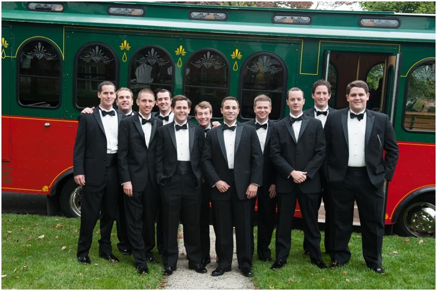 Towson Wedding Photographer - Trolley Wedding party photograph